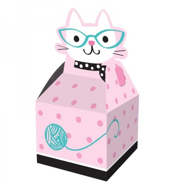 Geschenkbox Kätzchen Party