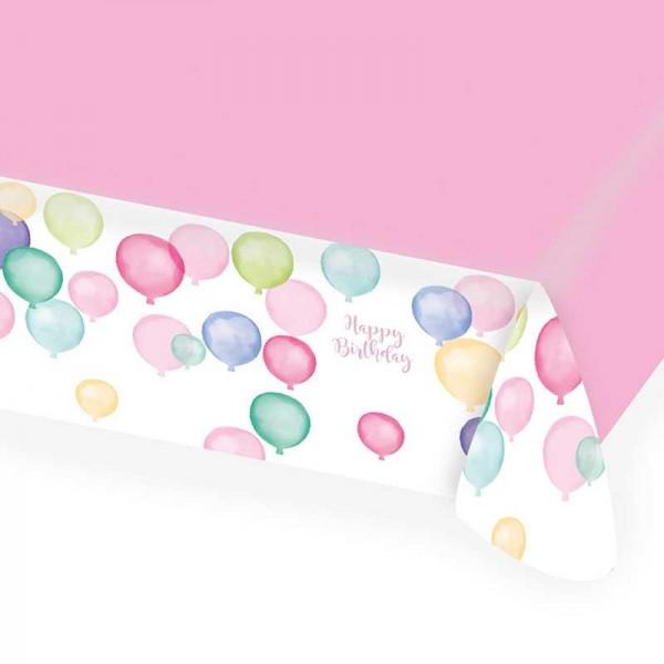 Tischdecke Happy Birthday Pastell