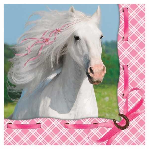Servietten Weisses Pferd, 16 Stk