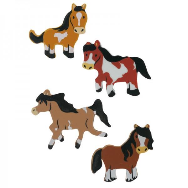 Radiergummi Set Pferde, 8 Stk