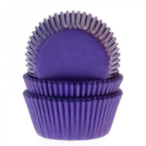 Muffinförmchen violett, 50 Stk.