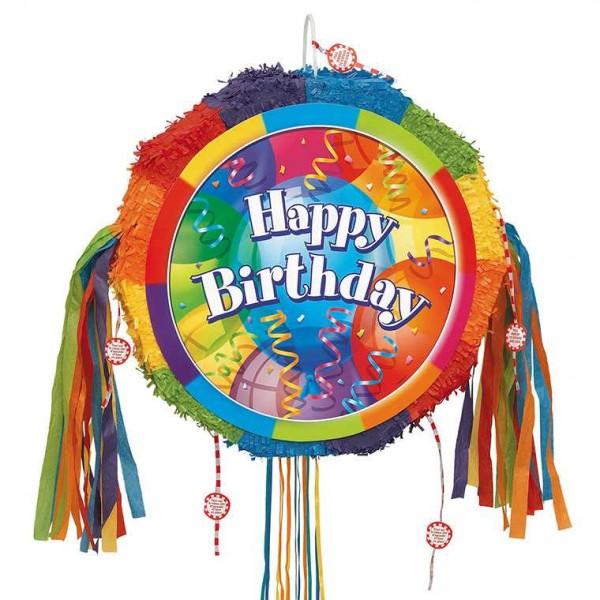 Zieh-Piñata Trommel HAPPY BIRTHDAY