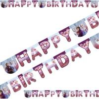Girlande Happy Birthday Frozen 2 / Die Eiskönigin
