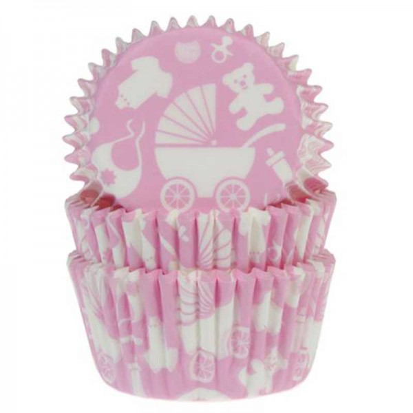 Muffinförmchen Baby rosa, 50 Stk.