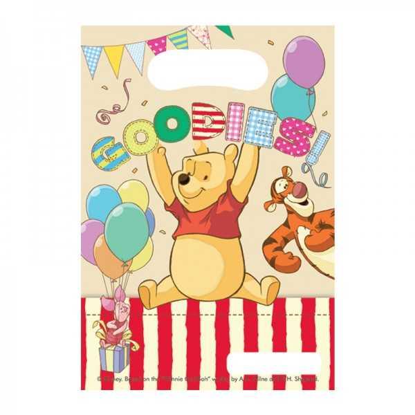"""Partytüten Winnie Puuh """"Alphabet"""", 6 Stk"""