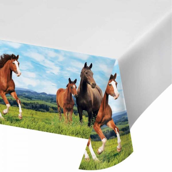 Tischdecke Pferde Party