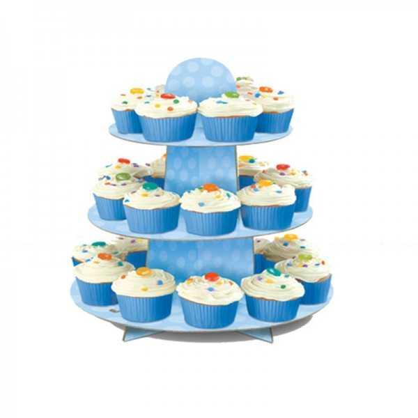 Etagere Cupcakes Blau