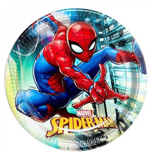 Teller Spiderman, 8 Stk.