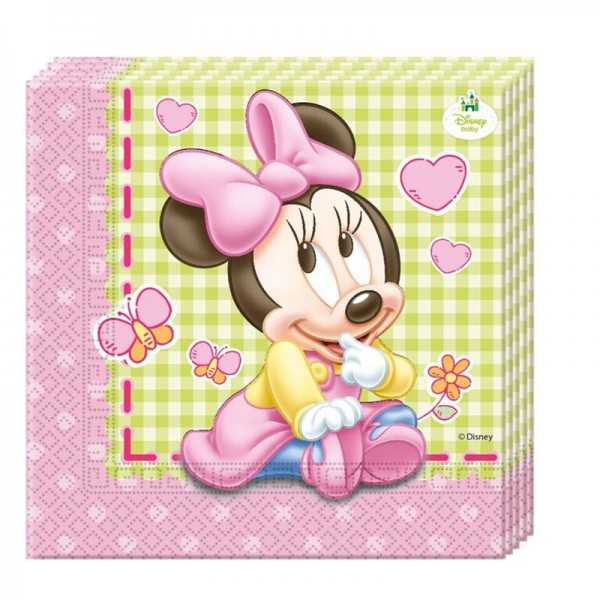 Servietten Baby Minnie, 20 Stk.