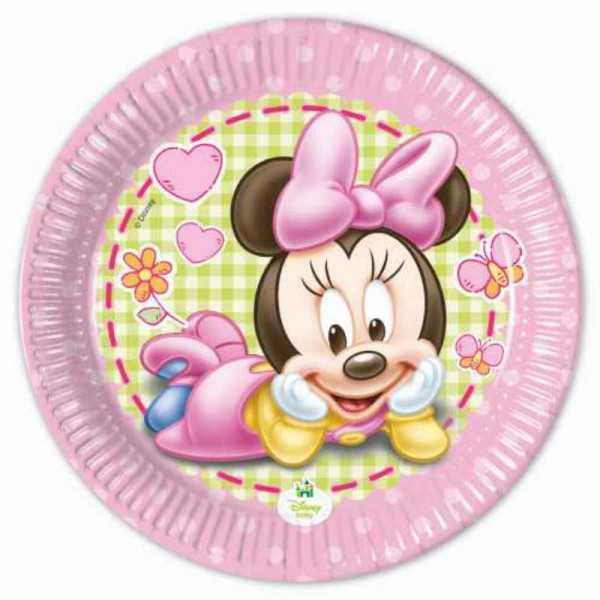 Teller klein Baby Minnie, 8 Stk.