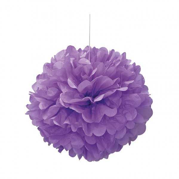 Pompon violett 40cm, 1 Stk
