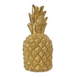 Kerze Ananas gold, 1 Stk.