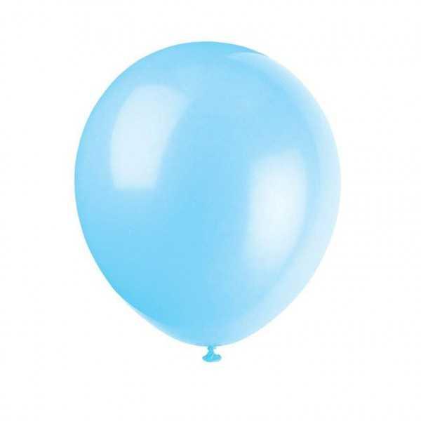 Luftballons hellblau, 10 Stk.