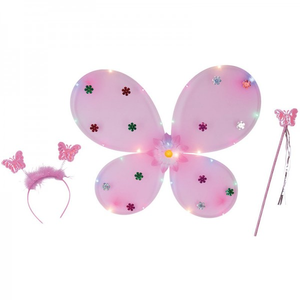 Schmetterling-Set LED (inkl. Batterien), 3-tlg.