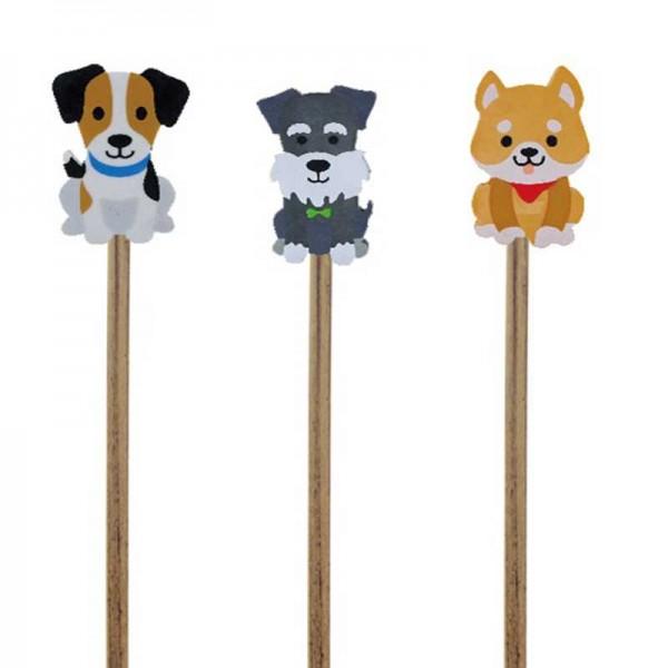 Bleistift mit Radierer Hunde