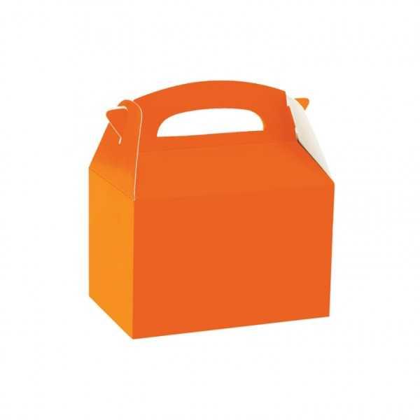 Geschenkbox orange, 1 Stk.