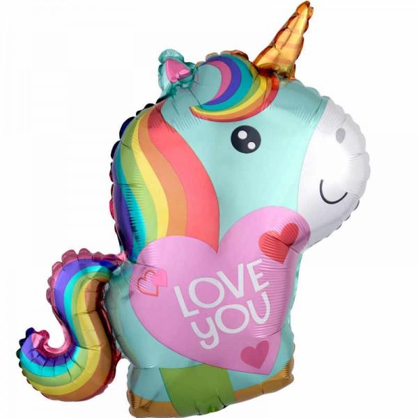 Folienballon Einhorn Love you