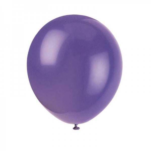 Luftballons violett, 10 Stk.