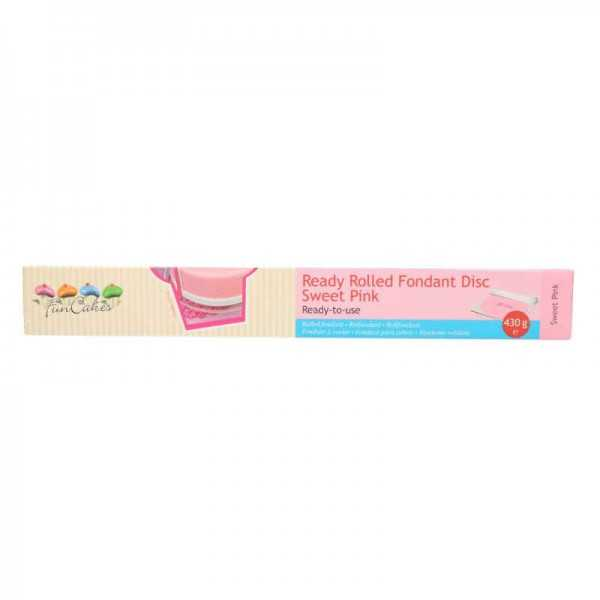 Funcakes Fondant ausgerollt Pink