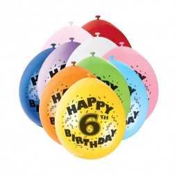 Luftballons 6. Geburtstag, 10 Stk.