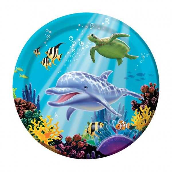 Teller Delfin, 8 Stk