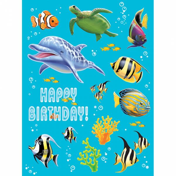 Sticker Delfin, 4 Bögen