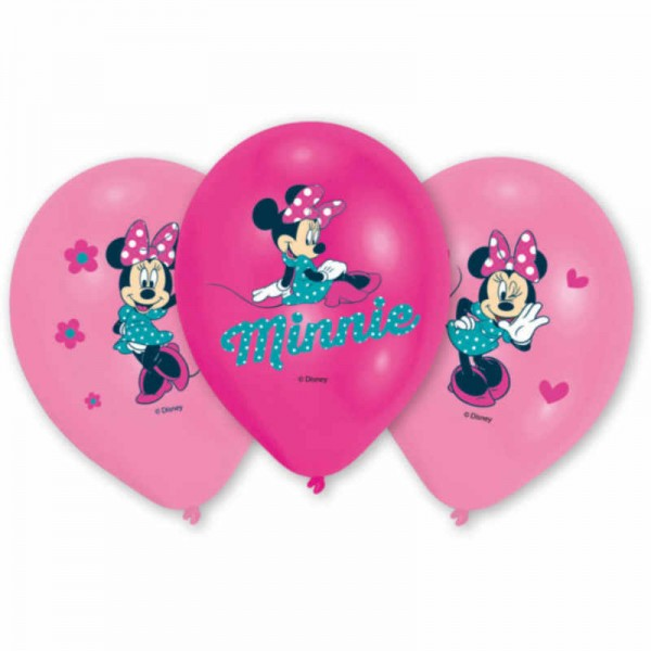 Luftballons Minnie Mouse, 6 Stk.