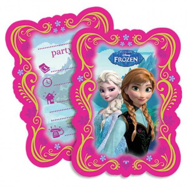 Einladungskarten Frozen / Die Eiskönigin, 6 Stk