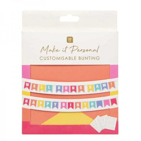 Girlande Happy Birthday Glitter