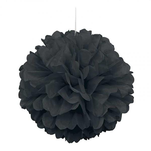Pompon schwarz 40cm, 1 Stk