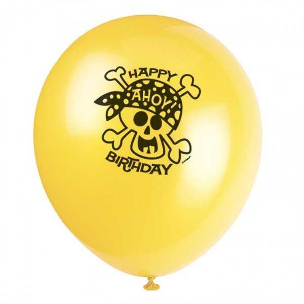 Luftballons Ahoi Piraten, 8 Stk
