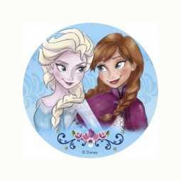 Tortenaufleger Frozen / Die Eiskönigin Elsa & Anna, 1 Stk.