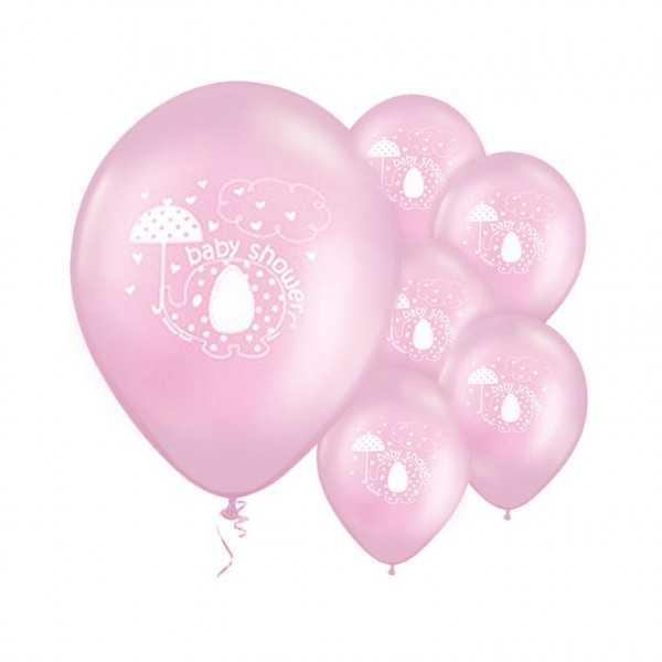 Luftballons Babyfant rosa, 8 Stk.
