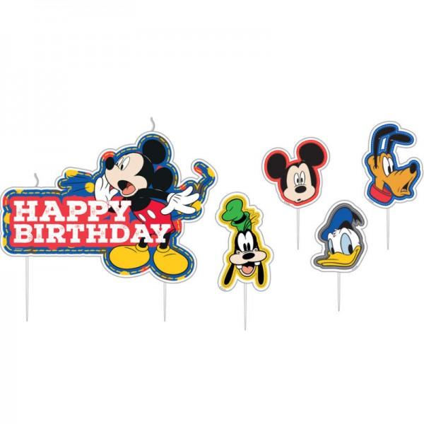 Geburtstagskerzen-Set Mickey Mouse