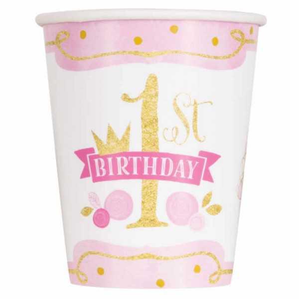 Becher 1. Geburtstag Prinzessin