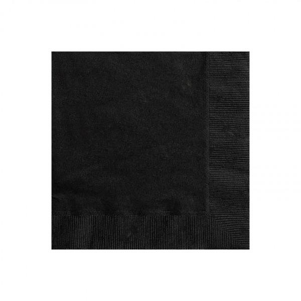 Servietten schwarz