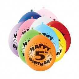 Luftballons 5. Geburtstag, 10 Stk.