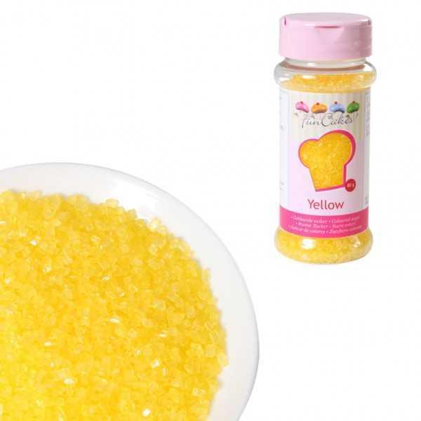 Funcakes Zuckerstreusel Gelb, 80 g