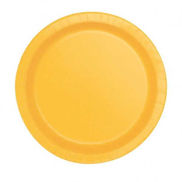 Teller gelb