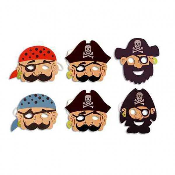 Piraten-Masken, 6 Stk