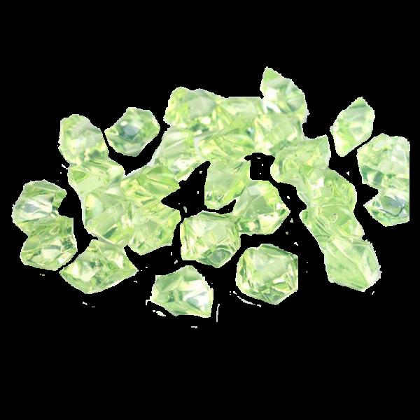 Dekokristall Acryl hellgrün, 50 Stk