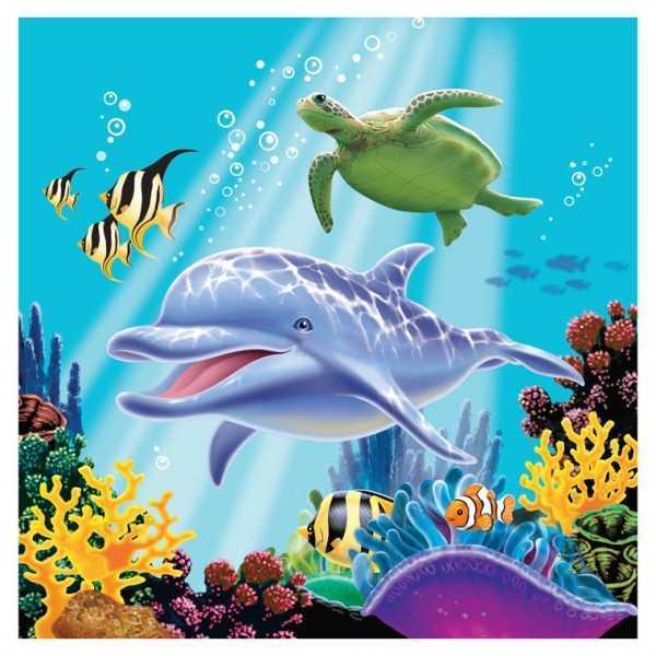 Servietten Delfin, 16 Stk