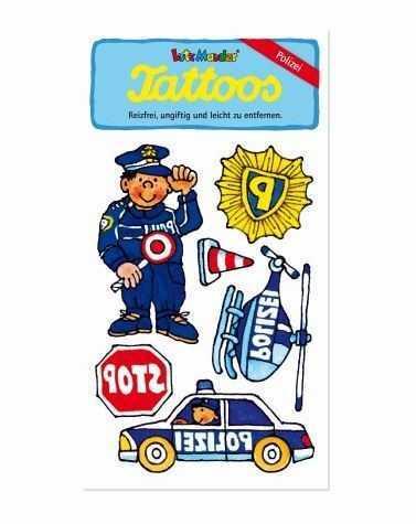 Klebetattoos Polizei
