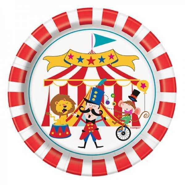 Dessertteller Zirkus