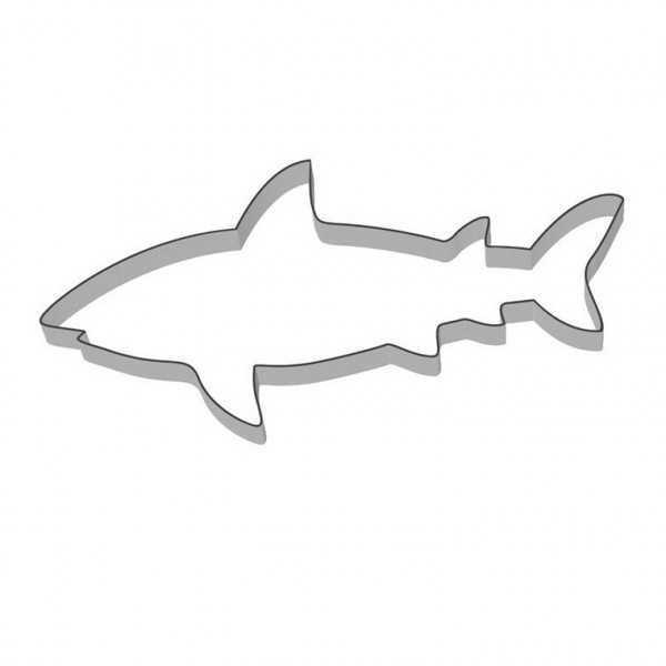 Ausstechform Haifisch