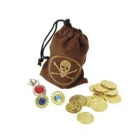 Piraten-Set Münzen und Beutel