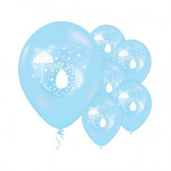 Luftballons Babyfant blau, 8 Stk.