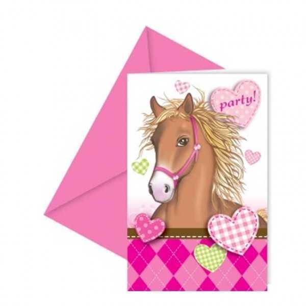 Einladungskarten Pferdetraum, 6 Stk