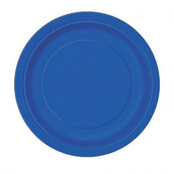 Teller blau