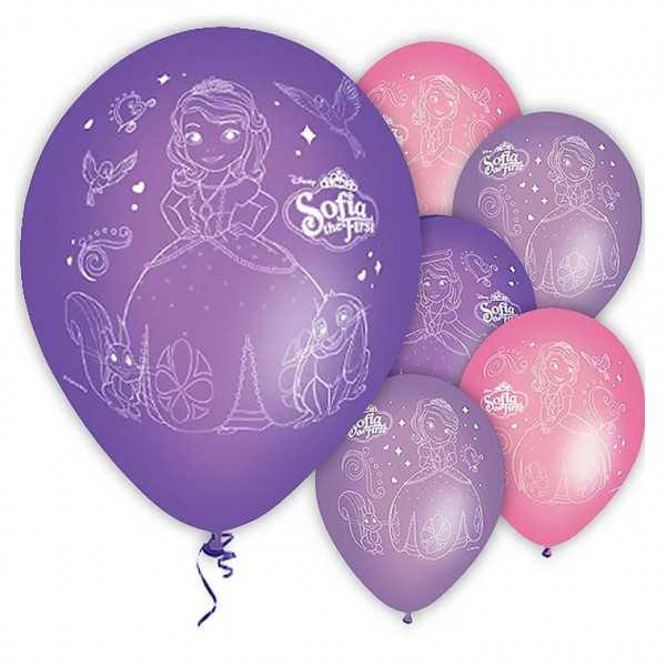 Luftballons Sofia die Erste / Sofia the First, 6 Stk